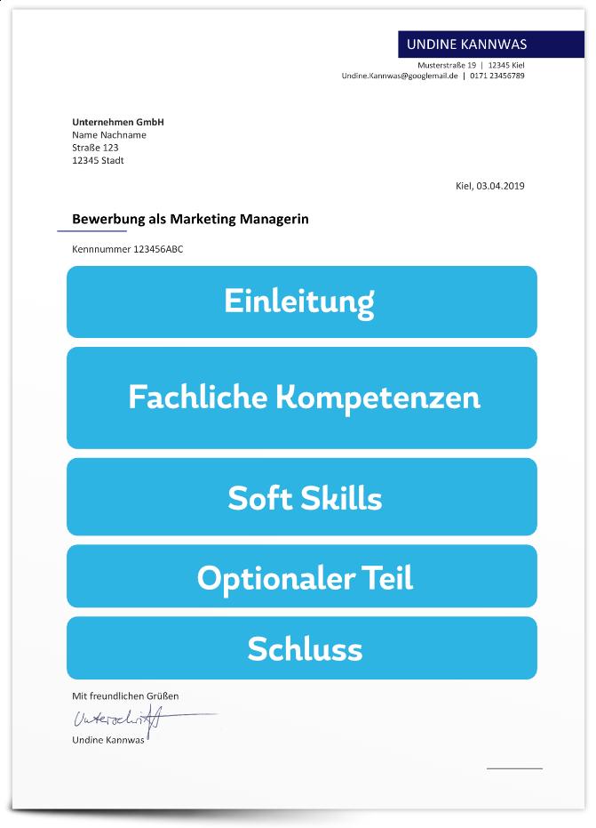 Bewerbungsschreiben - Aufbau