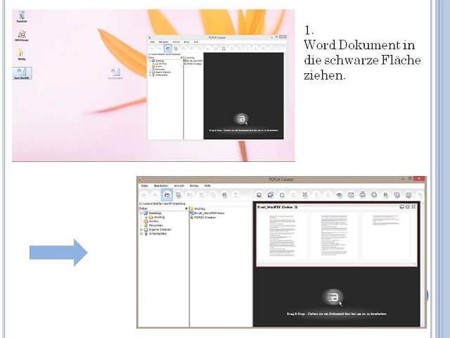 Bewerbung Word zu PDF Schritt 1