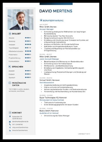 Bewerbungsvorlage Ambitioniert - 22,95 €