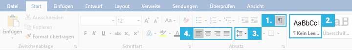 DIN 5008 Bewerbung: MS Word Funktionen