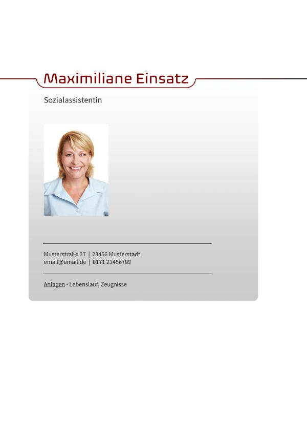 Deckblatt Sozialassistent