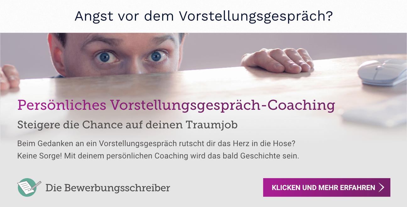 Vorstellungsgespräch Coaching