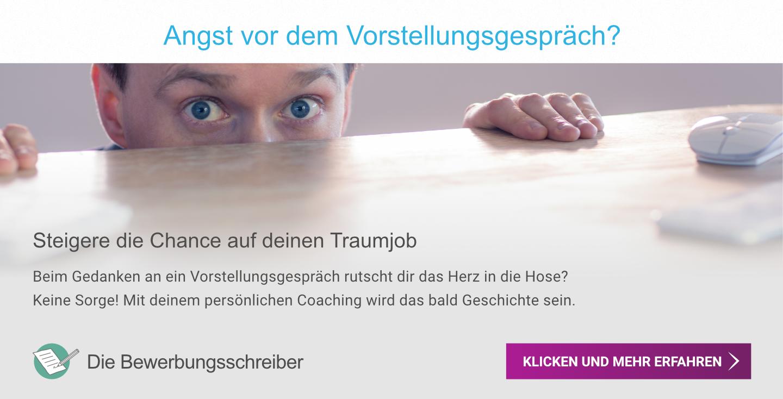 Vorstellungsgespräch Coaching Banner