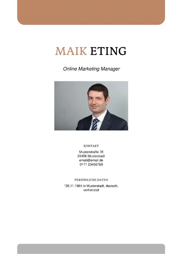 Deckblatt Online Marketing Manager
