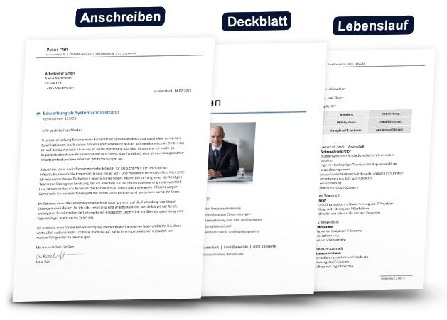 Deckblatt Bewerbung - Reihenfolge der Bewerbungsunterlagen