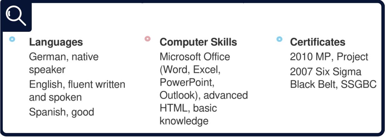 Résumé - Additional Skills