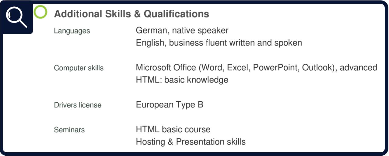 CV - Skills & Qualifications